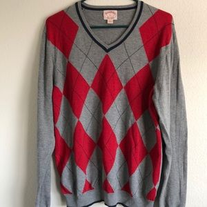 1960's Brooks Brothers V neck Cotton Wool Sweater